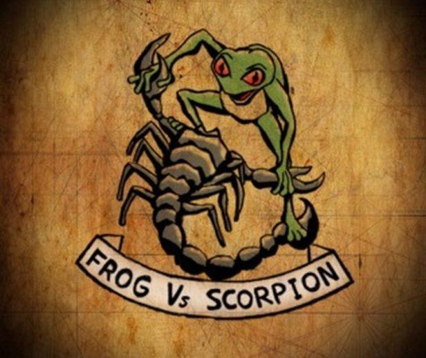 frog-vs-scorpion-color-tattoo-design-800x675