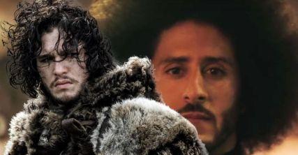 Kit-Harington-as-Jon-Snow-in-Game-of-Thrones-and-Colin-Kaepernick
